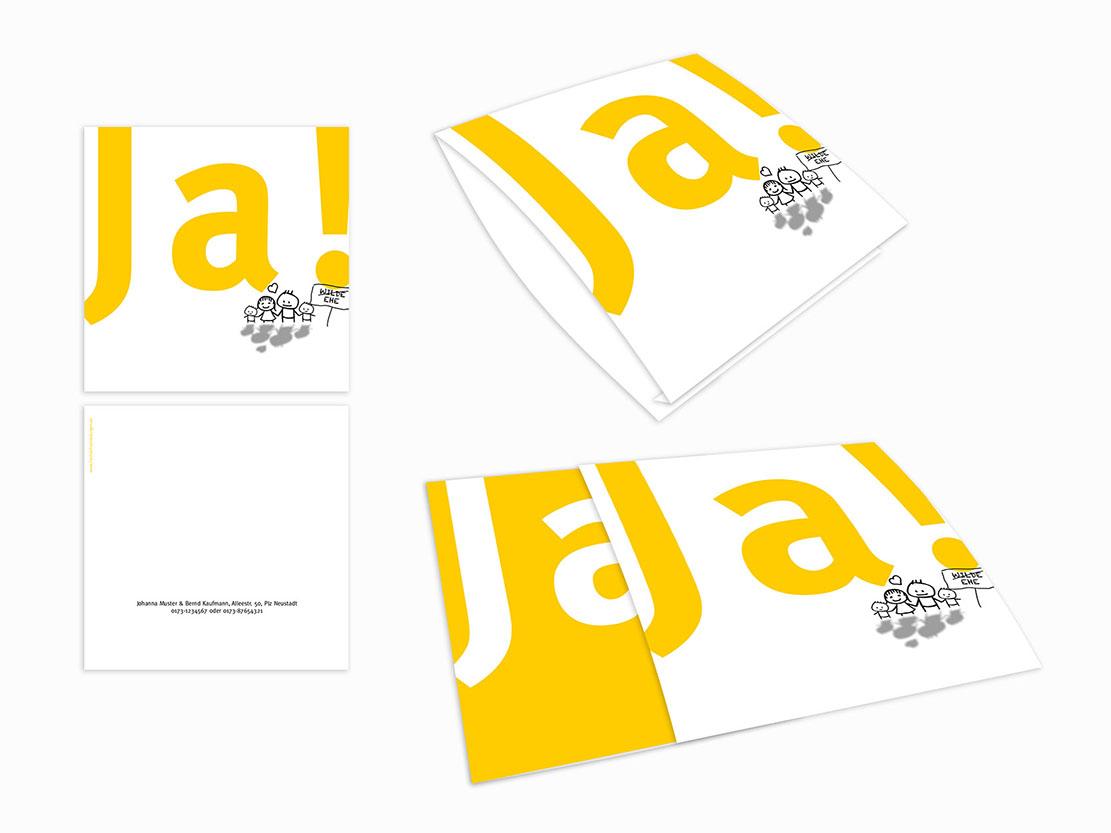 Einsteck kuverts welch ein paar gelb din lang einzelkarte 1