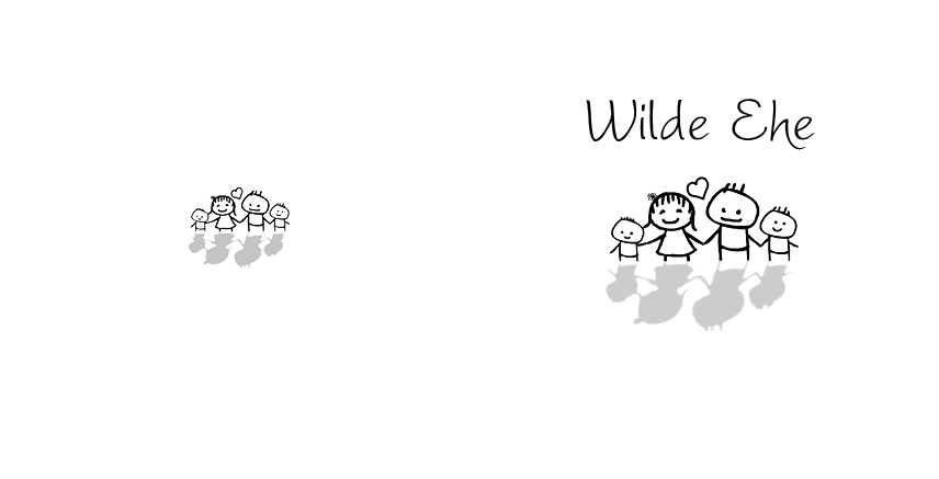 Einladungskarte-Hochzeit - Wilde Ehe ade - Violett
