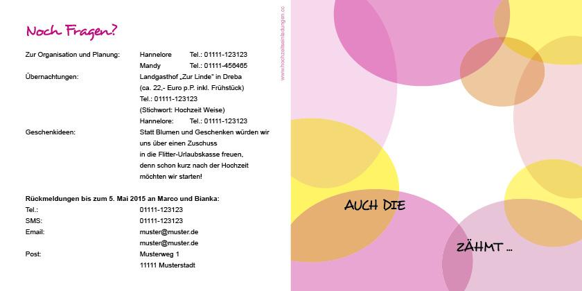 Einladungskarten Hochzeit - Wilde Ehe - gezähmt