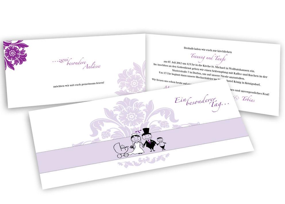 Hochzeitseinladung - Kinder & Hochzeit