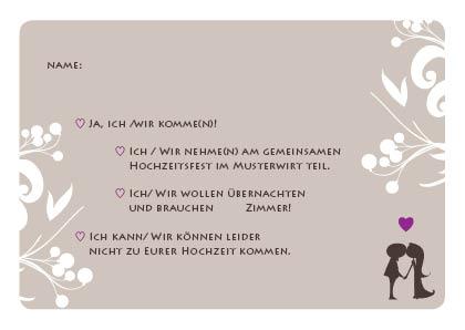 Hochzeitseinladung Liebesbaum In Braun