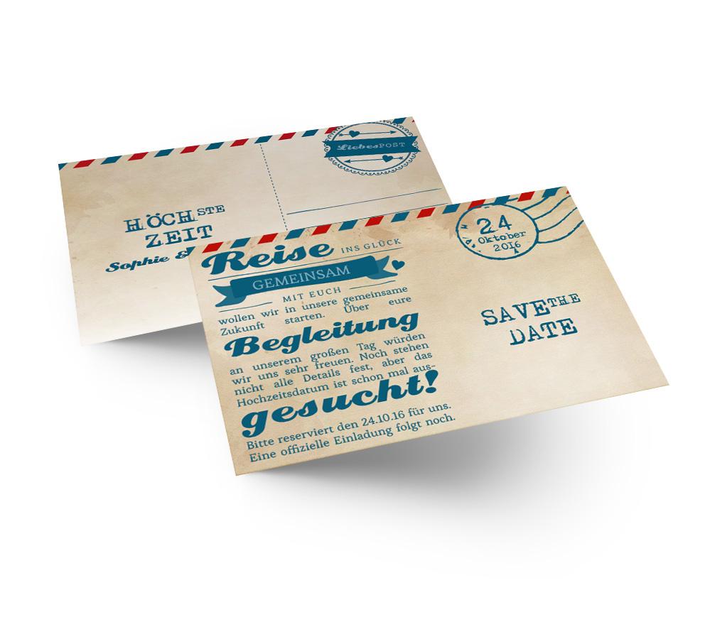 Geschenkanhänger ticket airmail 4 you