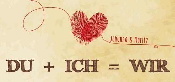 Fingerprint Save the Date Karten - WIR