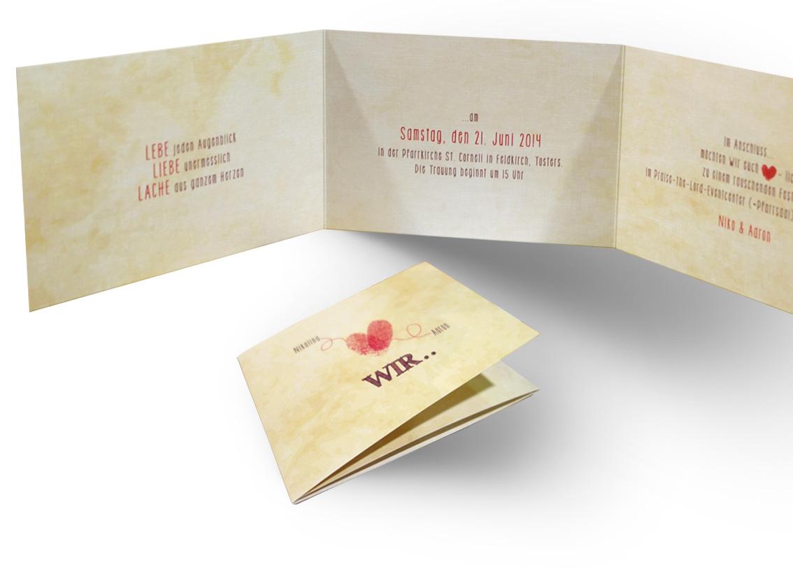 Fingerprint Hochzeitseinladung - WIR