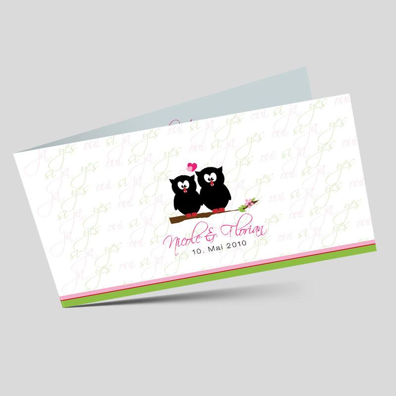 Hochzeitseinladung Das Eulenpaar