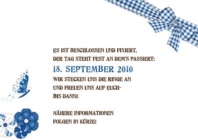 Save The Date Karten Zünftig Bayrisch