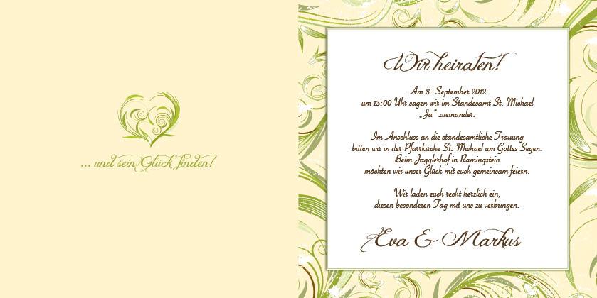 Hochzeitseinladung Herzergreifend