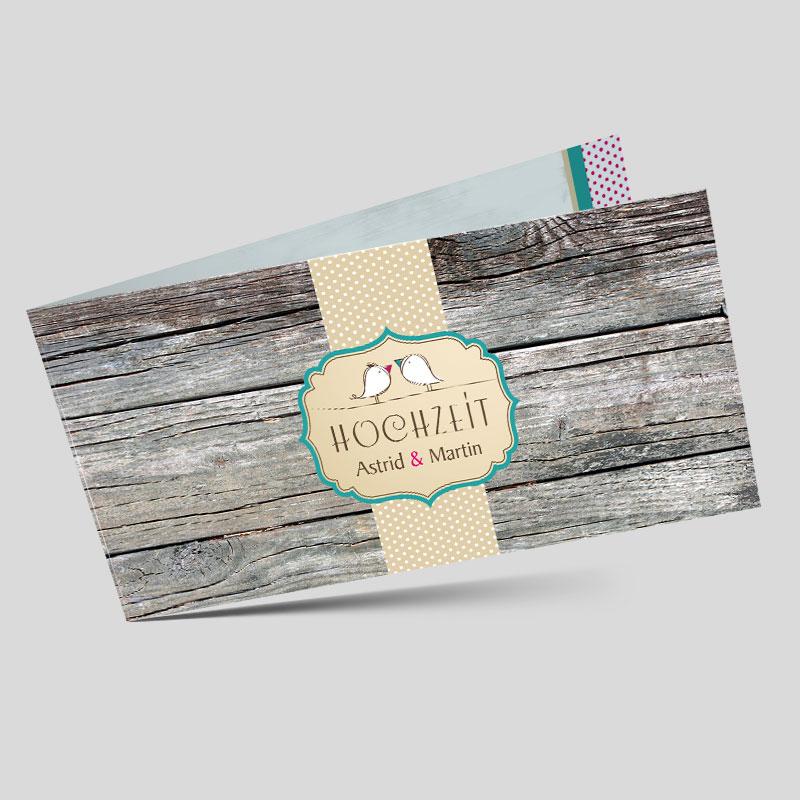 Einladungskarten hochzeit holzoptik einladungskarten for Hochzeitseinladung holz