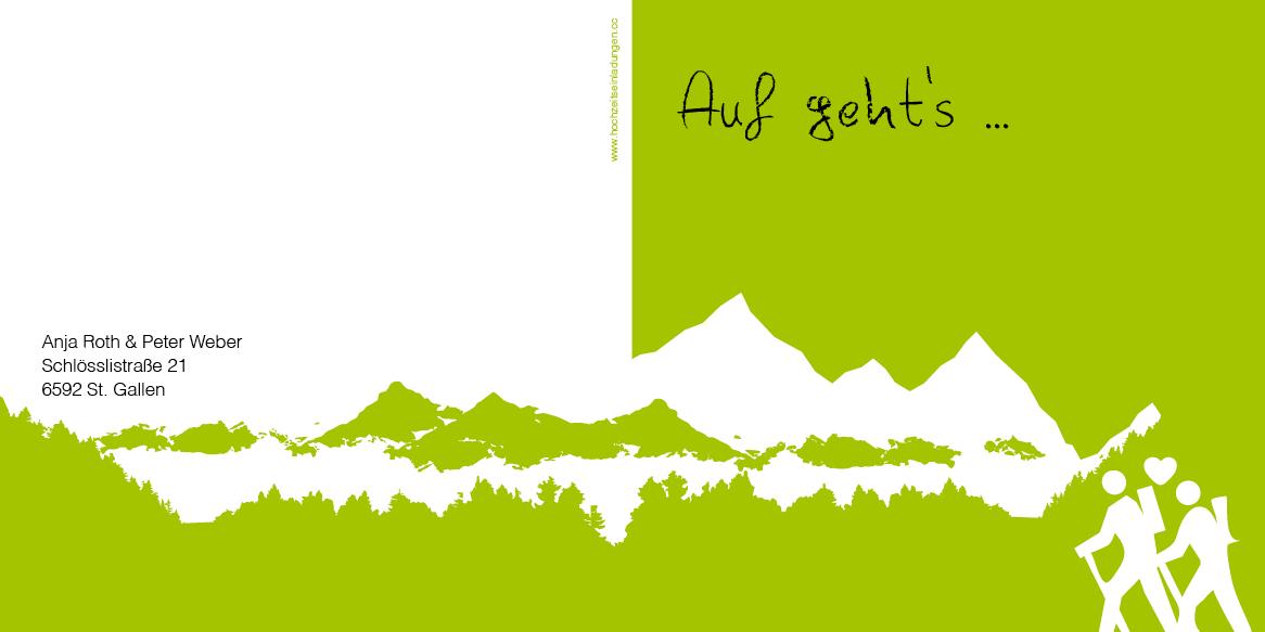 Hochzeitseinladungskarten - Berge - Gipfelstürmer