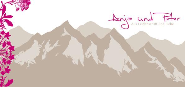 Hochzeitseinladung - Liebe versetzt Berge