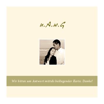 Foto Hochzeitskarte Sandherz
