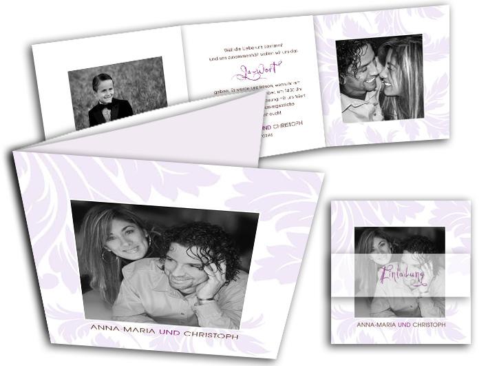 Die Fotokarten zur Hochzeit sind beeindruckende Hochzeitseinladungen ...