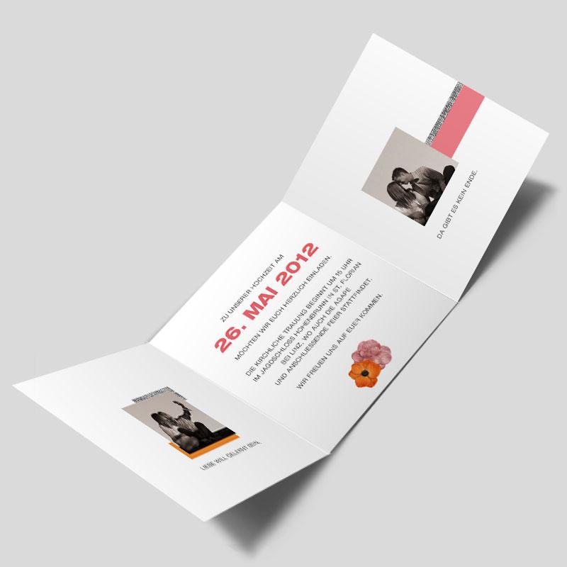 fotokarte hochzeitseinladung vintage blumen. Black Bedroom Furniture Sets. Home Design Ideas