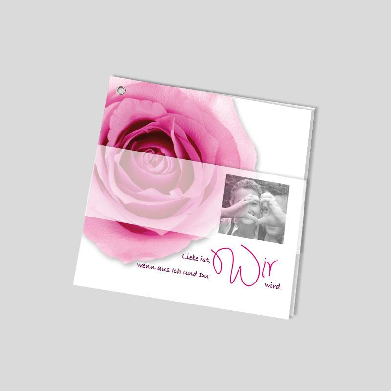 Facher Hochzeitseinladung Rosen Erbluhen