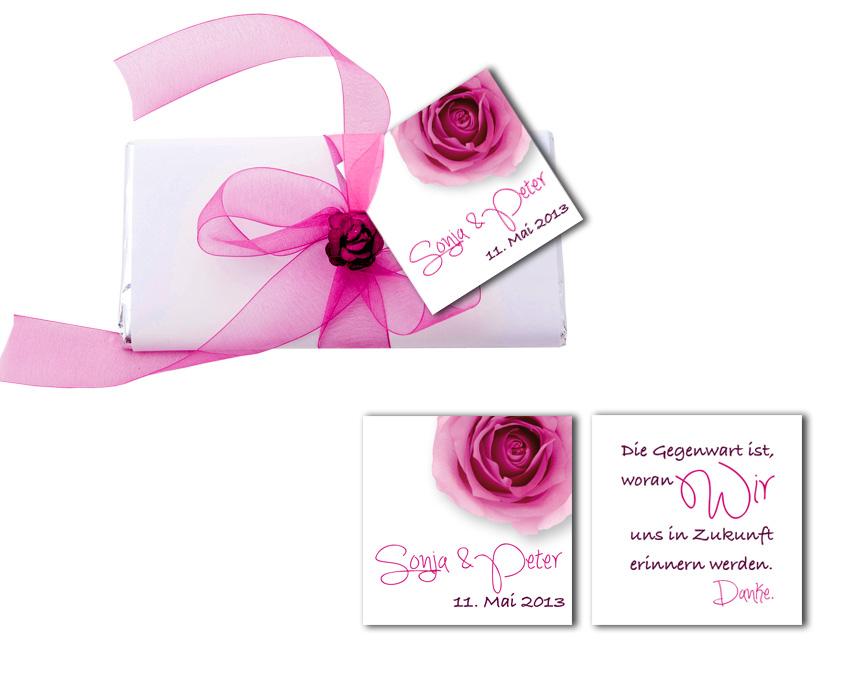 fächer hochzeitseinladung - rosen erblühen, Einladung