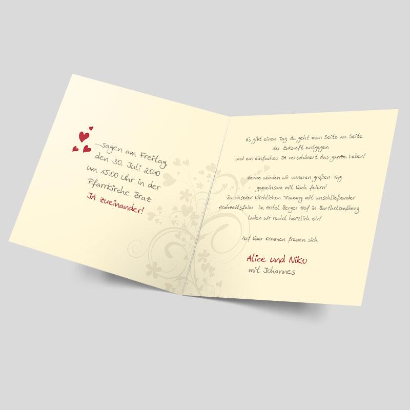 Foto Hochzeitseinladungskarte Herzensangelegenheit