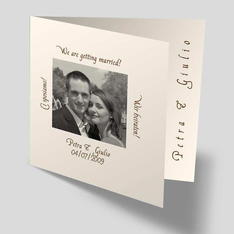 Fotokarte Hochzeitseinladung - Bilderrahmen