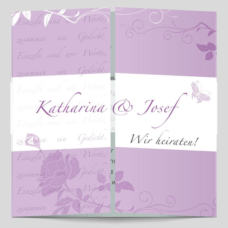 Foto Hochzeitseinladung Rosentraum