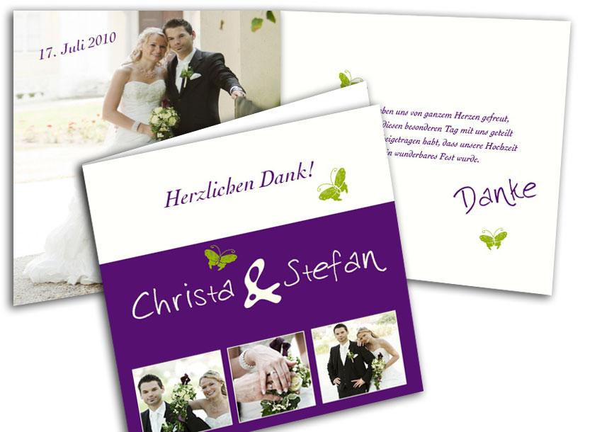 Foto Hochzeitskarte Blickfang In Violett