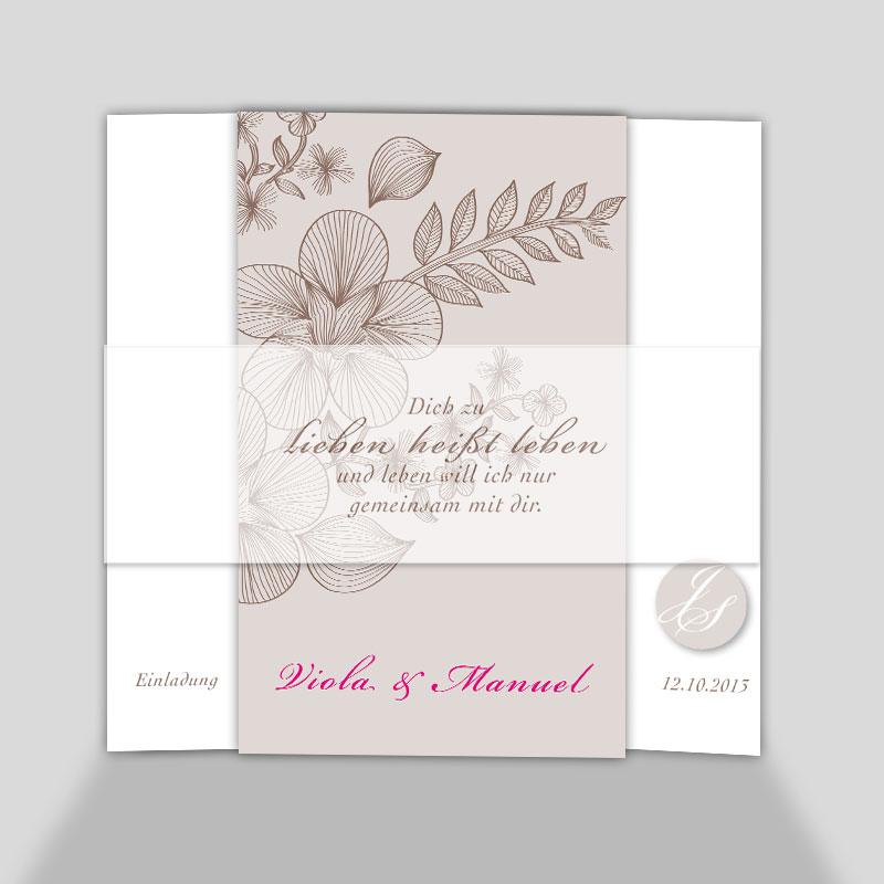 Foto Hochzeitskarten Weil Lieben Leben Heisst