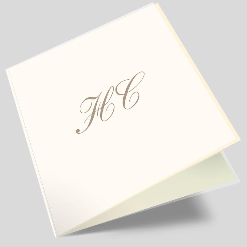 Hochzeitseinladungskarte Elegante Initialien