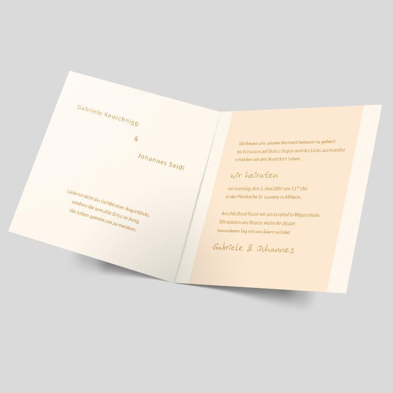 Hochzeitseinladung Ring Frei