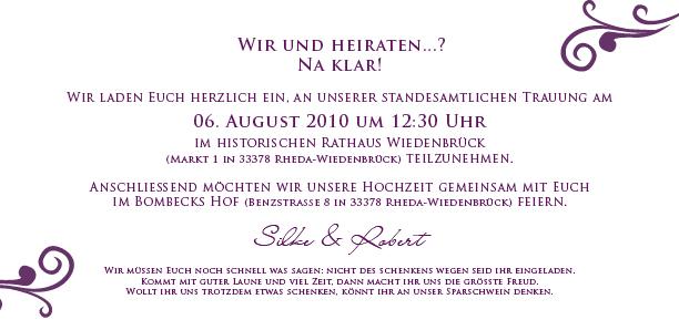 fächerkarte ornamente en vogue - violett, Einladungen