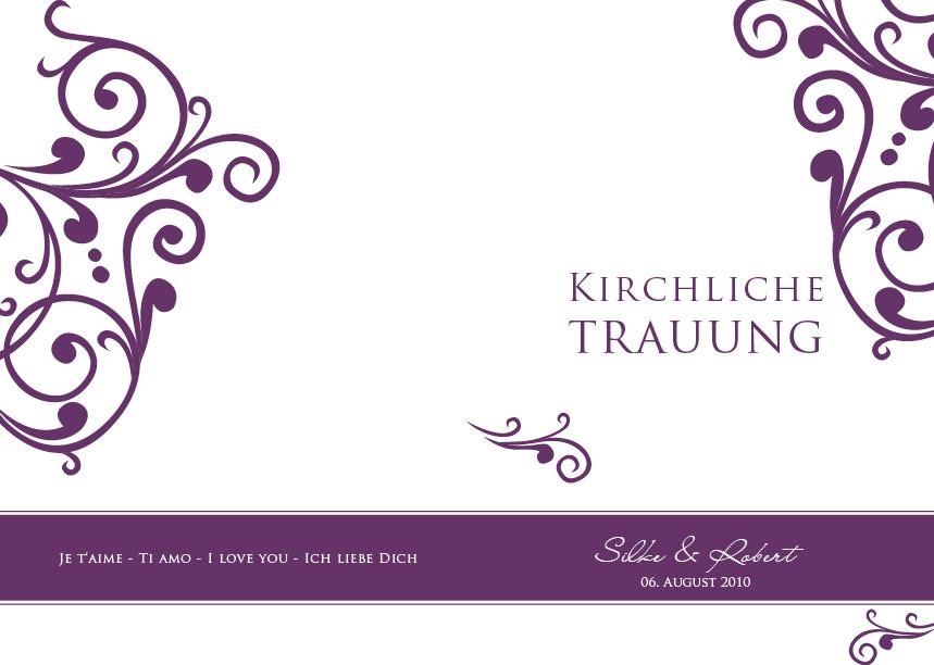 Kirchenhefte Facherkarte Ornamente En Vogue Violett