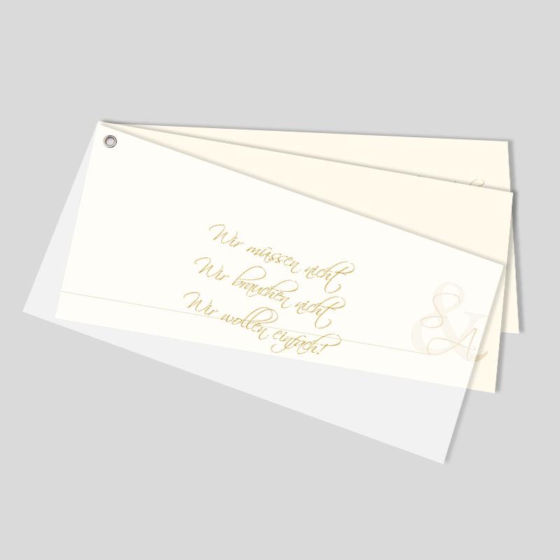 Facher Hochzeitskarte Pur Und Verspielt