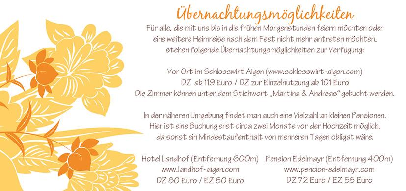 Hochzeitseinladung Florale Elemente In Orange