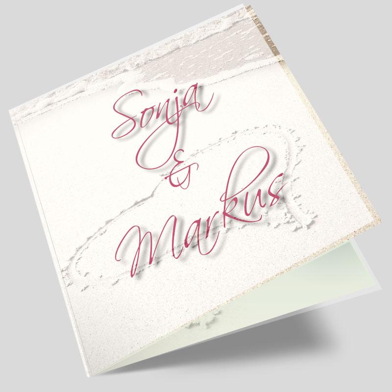 Hochzeitseinladung Herzenswunsch