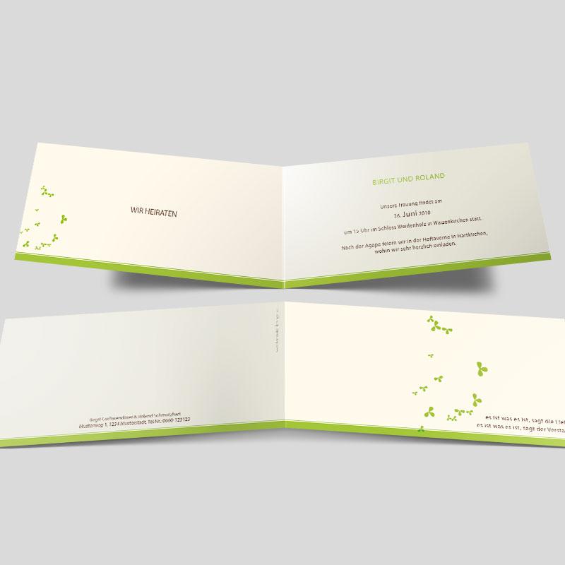 Hochzeitseinladung Liebesgeflüster In Grün