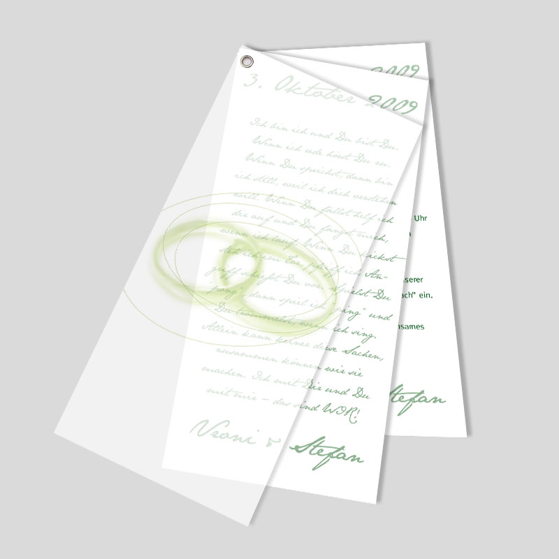 Facher Hochzeitseinladungskarte Ringkunst