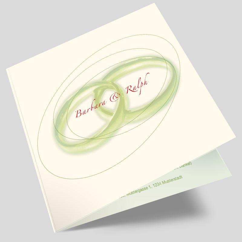 Hochzeitseinladung Ringkunst