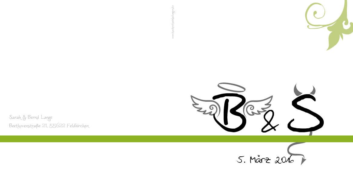 Engel Und Bengel dankeskarten engel bengel grün