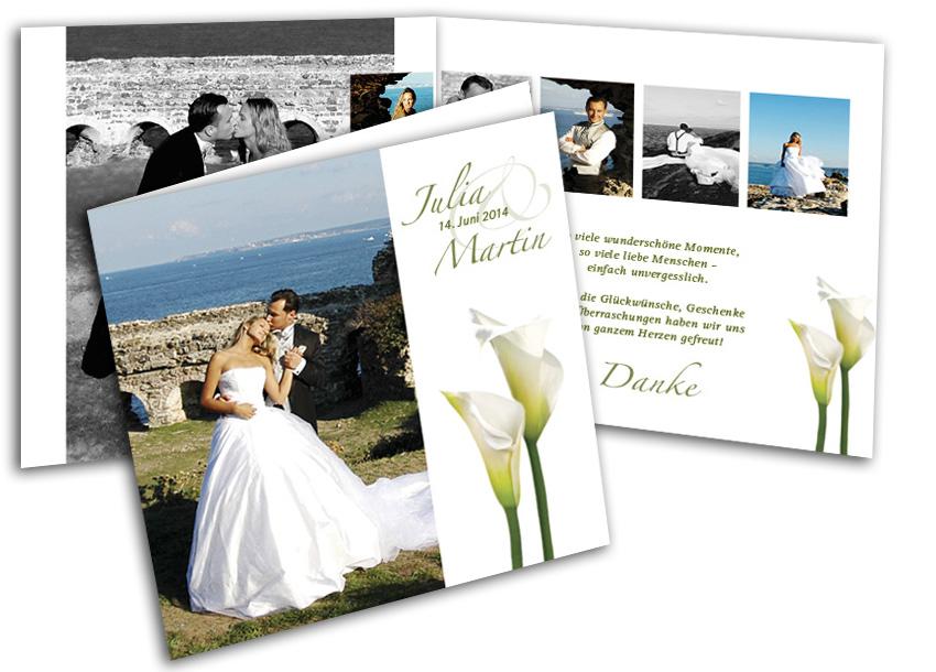 Dankeskarte für die Hochzeit - Callatraum