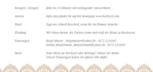 Hochzeit einlage stunning gstebuch mit with hochzeit - Hochzeitseinladung text modern ...