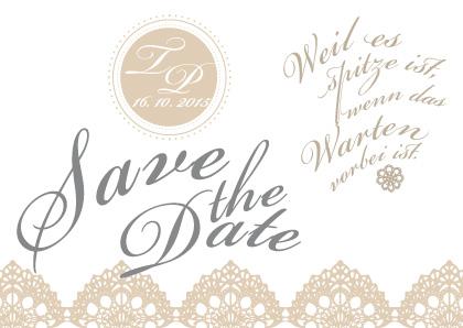 Save The Date Karten Vintage.Vintage Save The Date Karten Spitzen Hochzeit