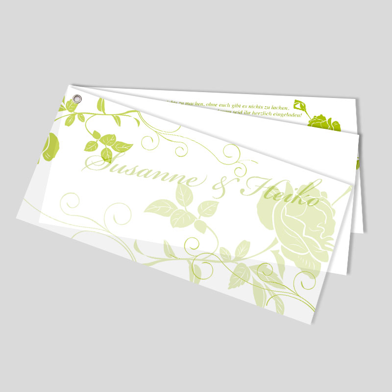 Rosentraum Besondere Facher Hochzeitseinladungen