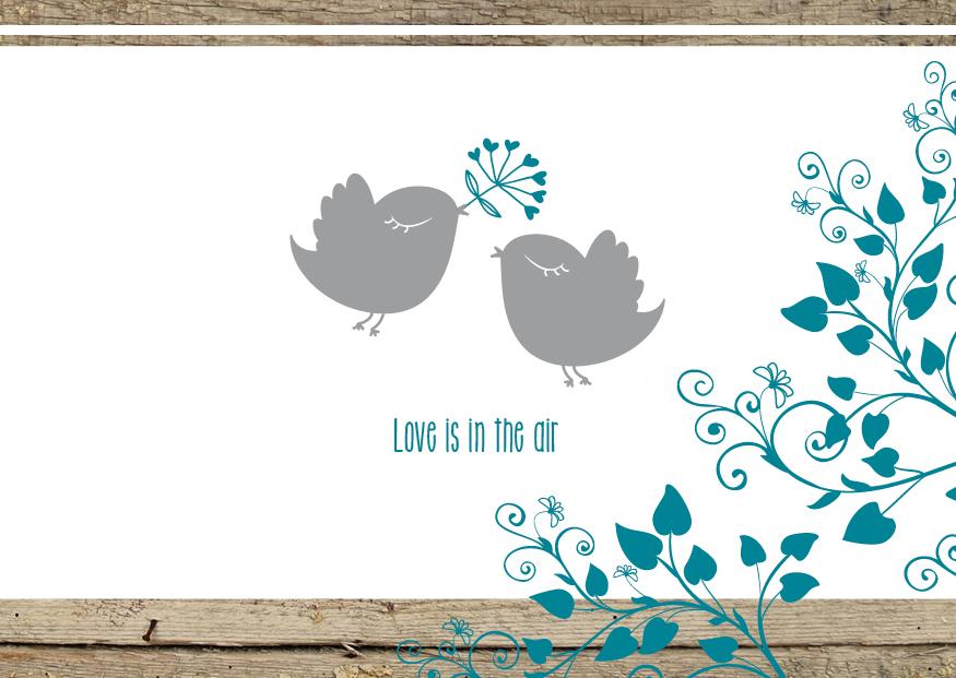 Polterabend Karte.Lovebirds Einlagekarten Mit Banderole