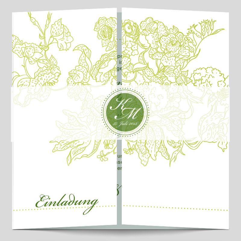 Monogramm Logo Edle Hochzeitseinladung