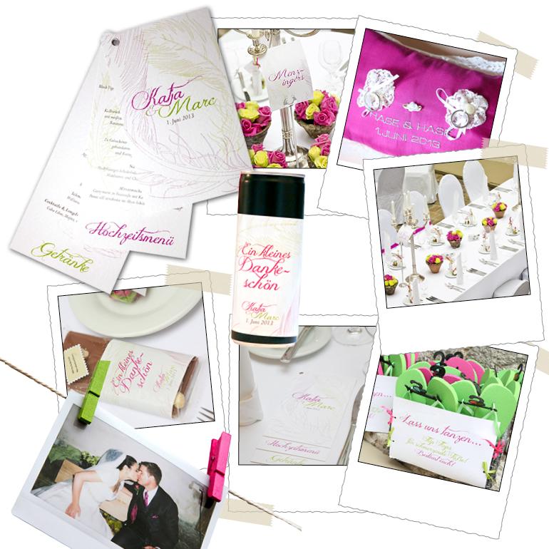 Unsere Designer stimmen gerne jedes Detail der Hochzeitseinladung (wie ...