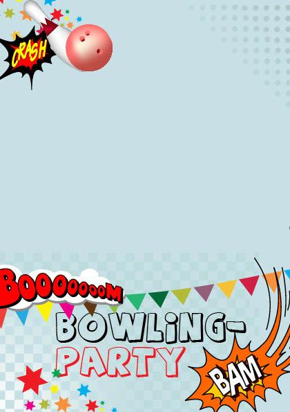 einladung zum kindergeburtstag - bowling ticket, Einladung