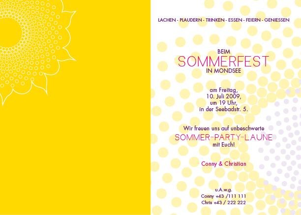 einladungskarten - sommerfest, Einladung