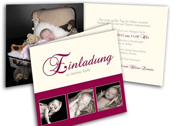 Taufe Einladung/tauf Einladungen - Vorlagen