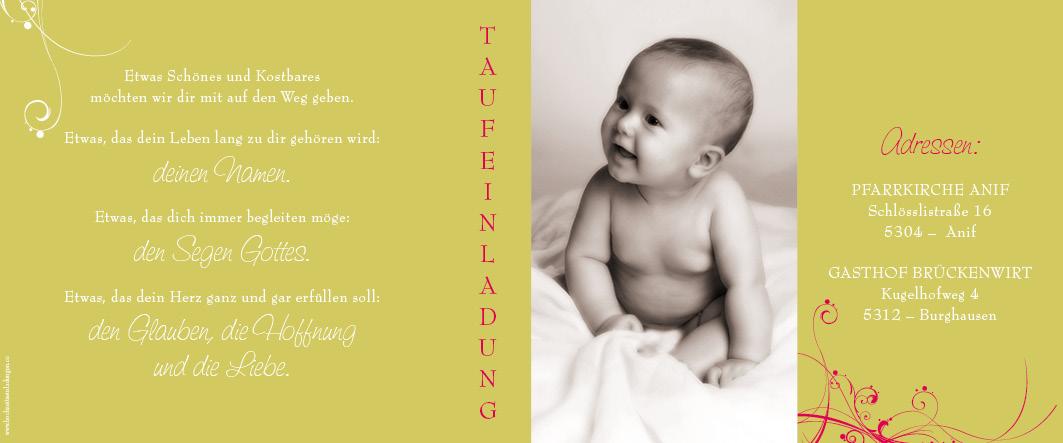 Taufeinladungen Kunterbunte Einladung Zur Taufe